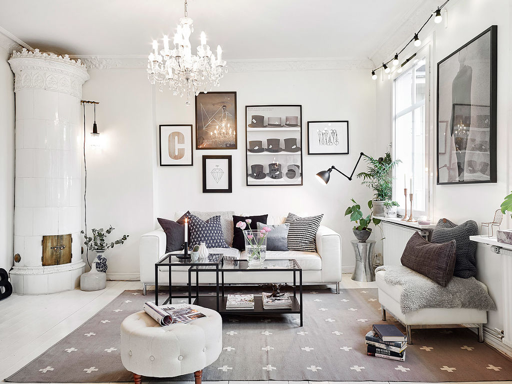 this bright swedish apartment is heaven for those who love big white